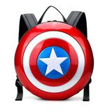 正品新款复仇者联盟美国队长帅气盾牌包双肩包电脑包时尚情侣背包