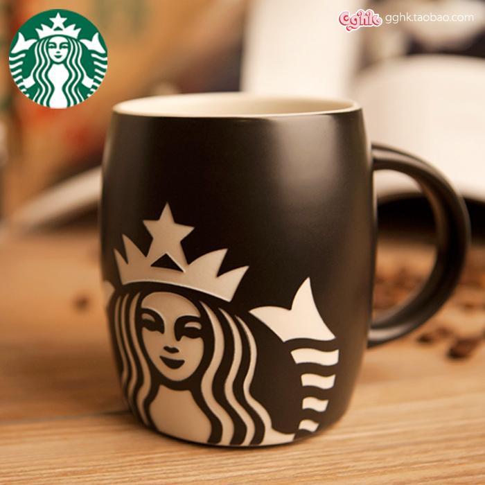 2014正品经典款星巴克咖啡杯酒桶形创意个性马克杯子图片
