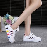 春夏季韩版透气休闲鞋女运动白色板鞋学生女鞋单鞋圆头小白鞋潮