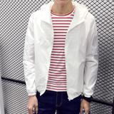 防晒衣男士夏季防晒服男装韩版薄款连帽外套青少年学生夹克夏装潮