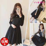韩版女装吊带A字连衣短裙春款打底衫两件套时尚休闲套装女装学生