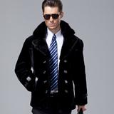 冬季皮毛一体真皮皮衣男款皮草男装外套男士整貂皮大衣中长款