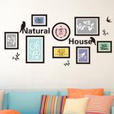 墙贴纸贴画客厅沙发背景墙壁纸装饰欧式创意墙上画框时尚现代简约