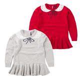 2016春装新款童装儿童蝴蝶结裙公主可爱针织开衫百搭女童毛衣上衣