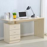 馨蕾台式电脑桌家用书桌写字桌简约现代办公桌子三抽屉组装写字台