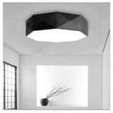现代简约led吸顶灯黑白卧室灯客厅灯书房灯创意玄关餐厅几何灯具