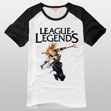 英雄联盟LOL 光辉女郎 拉克丝 短袖T恤纯棉圆领游戏衣服 包邮