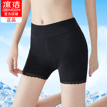 Ice security pants anti-light female summer lace thin section leggings Ice Silk large size wear modal insurance shorts
