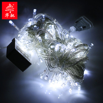 Huachi warm white led flash string lights gypsophila ins girls Heart star lights Christmas lights