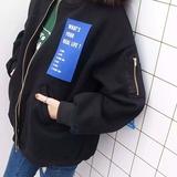 2016春装新款女装韩版情侣BF风原宿风字母棒球服宽松外套上衣潮
