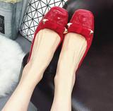 正品TSH包邮舒适软皮软底女鞋单鞋春鞋红色皮鞋大码单鞋工作鞋41