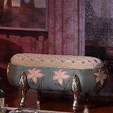 欧式换鞋凳长条凳服装店沙发凳长凳衣帽间试衣间凳子新古典床尾凳