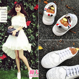 韩版英伦布洛克雕花真皮厚底小白鞋女夏季平底乐福鞋系带板鞋女鞋