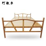午休折叠床双人床童床实木床简易午睡床单人床竹床木板床1.2米