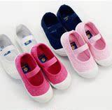 韩版绣花公主鞋儿童帆布鞋外贸原单女童鞋宝宝软底童单鞋布舞蹈鞋
