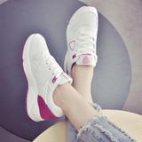 新款学生鞋女鞋子春秋季韩版时尚平底小白鞋厚底系带休闲运动鞋潮
