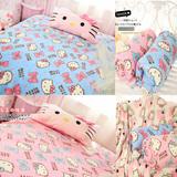 秋冬款猫咪珊瑚绒毯子 毛绒毯卡通毛毯空调毯可爱床单