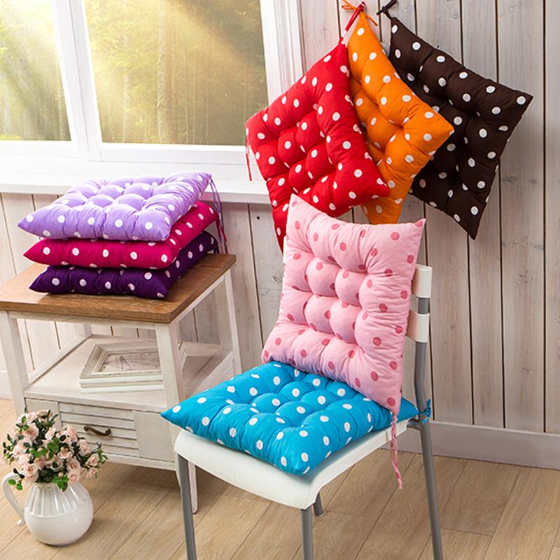 波点坐垫糖果色椅子板凳办公室学生课桌加厚保暖冬季靠背椅垫圆圈图片