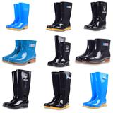 男女款雨鞋春夏秋冬短中高筒低帮加绒成人胶鞋防滑套鞋黑色防水靴