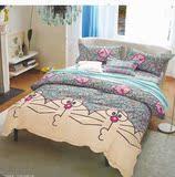 秋冬款可裁剪纯棉布料定做床笠被套沙发套窗帘加厚儿童磨毛四件套