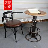 美式乡村LOFT工业风格铁艺做旧餐椅靠背椅电脑椅办公椅休闲咖啡椅