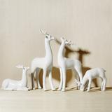 新品欧式家居饰品室内装饰办公室动物小摆件时尚工艺礼品陶瓷小鹿