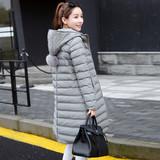 预售冬装新款连帽棉衣女中长款显瘦保暖外套韩版修身棉服长款潮