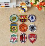 足球队标刺绣布贴衣服徽章补丁贴花 有背胶可熨烫 球队标志