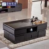 现代大理石火烧石高桌椅组合自动上水多功能茶艺桌整装功夫茶几