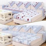 冬季双面沙发垫布艺三件套装田园沙发坐垫 简约现代组合沙发套巾