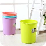 创意圆形无盖卫生间垃圾桶家用客厅 欧式加厚塑料厕所垃圾桶厨房