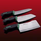 金门菜刀三件套装厨房刀具家用砍骨切片小厨刀组合不锈钢德国工艺