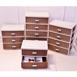 能及厨仿藤多层塑料抽屉式柜-宝宝衣柜5收纳柜4收纳盒3储物柜2
