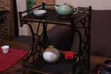 日本茶具/茶棚/博古架/紫竹制品竹花台/茶柜/收纳茶具/复古