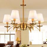 欧式美式铁艺吊灯镀金色古铜色田园客厅卧室房间蜡烛吊灯吸顶灯