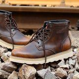 冬季短靴加绒真皮潮马丁靴男士户外工装靴高帮棉鞋男军靴潮鞋