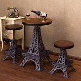 铁艺休闲桌椅 创意埃菲尔铁塔升降吧台桌椅 酒吧咖啡厅奶茶店桌椅