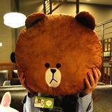 包邮Line正品布朗熊抱枕暖手捂靠垫毛绒玩具布娃娃生日礼物送女生