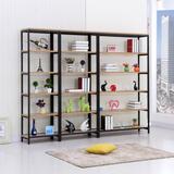 包邮书架特价钢木书架组合书架储物架置物架货架展示架木架可定做