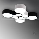 【灯的艺术与设计】 创意极简经典黑白色保龄球LED客厅卧室吸顶灯