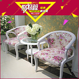 欧式休闲阳台桌椅茶几三件套 会客实木茶几椅子组合套装特价包邮