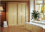 实木衣柜包邮 松木移门衣柜可定制 儿童推拉门衣橱 环保原木衣柜