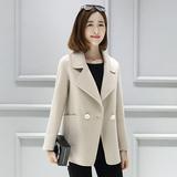 2016新款高端双面羊绒大衣女中长款纯手工毛呢外套修身呢大衣