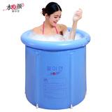 水美颜折叠浴桶泡澡桶充气浴缸加厚塑料洗澡盆成人浴盆儿童洗澡桶