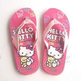 夏季平跟布带女款卡通holle kitty人字拖凯蒂猫拖鞋动漫母女沙滩