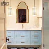 新款挂柜北欧宜家 实木浴室柜橡木卫浴柜组合洗漱台洗手池洗脸盆