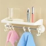 毛巾架浴巾抹布吸盘式置物架 卫浴室卫生间三角架 吸壁式挂架百货