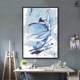 云图水彩人物装饰画现代简约抽象美女竖版玄关挂画客厅背景墙壁画