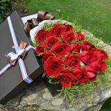 33朵粉白香槟红玫瑰鲜花礼盒生日鲜花花束上海北京同城鲜花速递