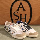 香港专柜代购 ASH 16秋冬 MAJESTIC闪亮星星系带平底拼接球鞋女鞋